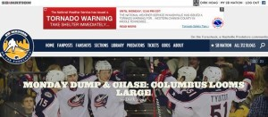Tornado Warning from the National Weather Service appearing as a banner ad on a website