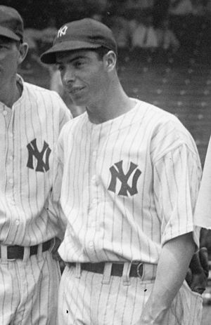 Joe DiMaggio of the New York Yankees, cropped ...