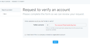twitter account verification 2